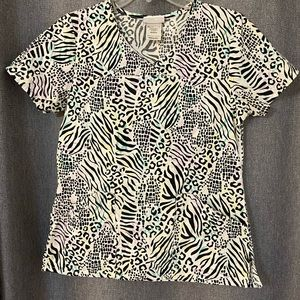 Scrubs Animal Print Shirt